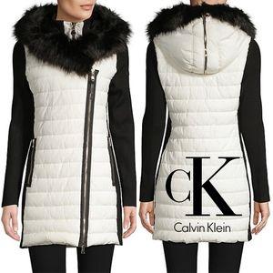 Calvin Klein Performance  Faux Fur-Trim Parka
